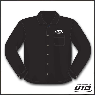 LSBKTL. Ladies Long Sleeve Black Twill