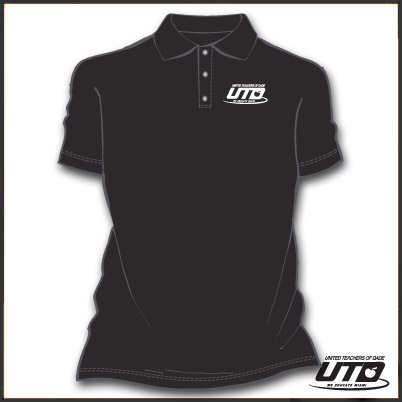 BBKGSL. Ladies Black Basic Golf Shirt