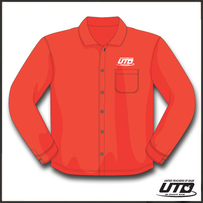 LSRTL. Ladies Long Sleeve Red Twill